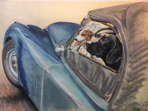 Départ pour un week end frauduleux en Jaguar XK 120